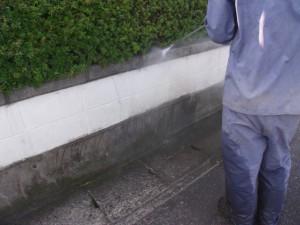 外塀高圧洗浄③
